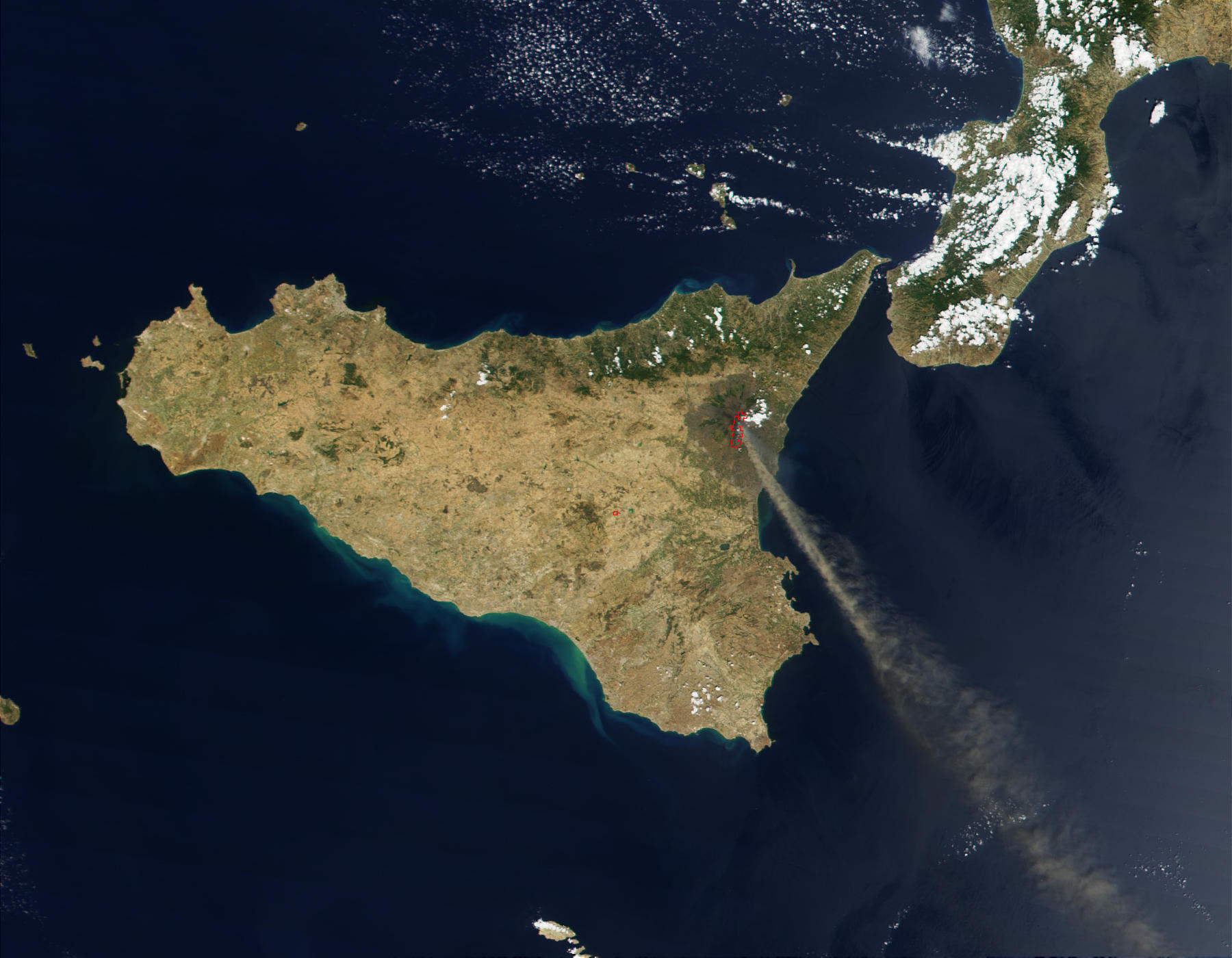 Ash Plume from Mt. Etna - related image preview