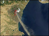 Ash Plume from Mt. Etna - selected image