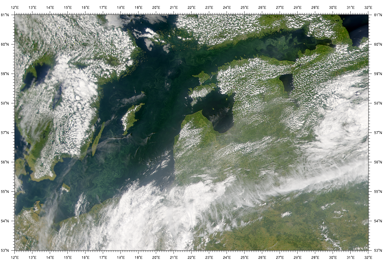 SeaWiFS: Baltic Sea Bloom - related image preview