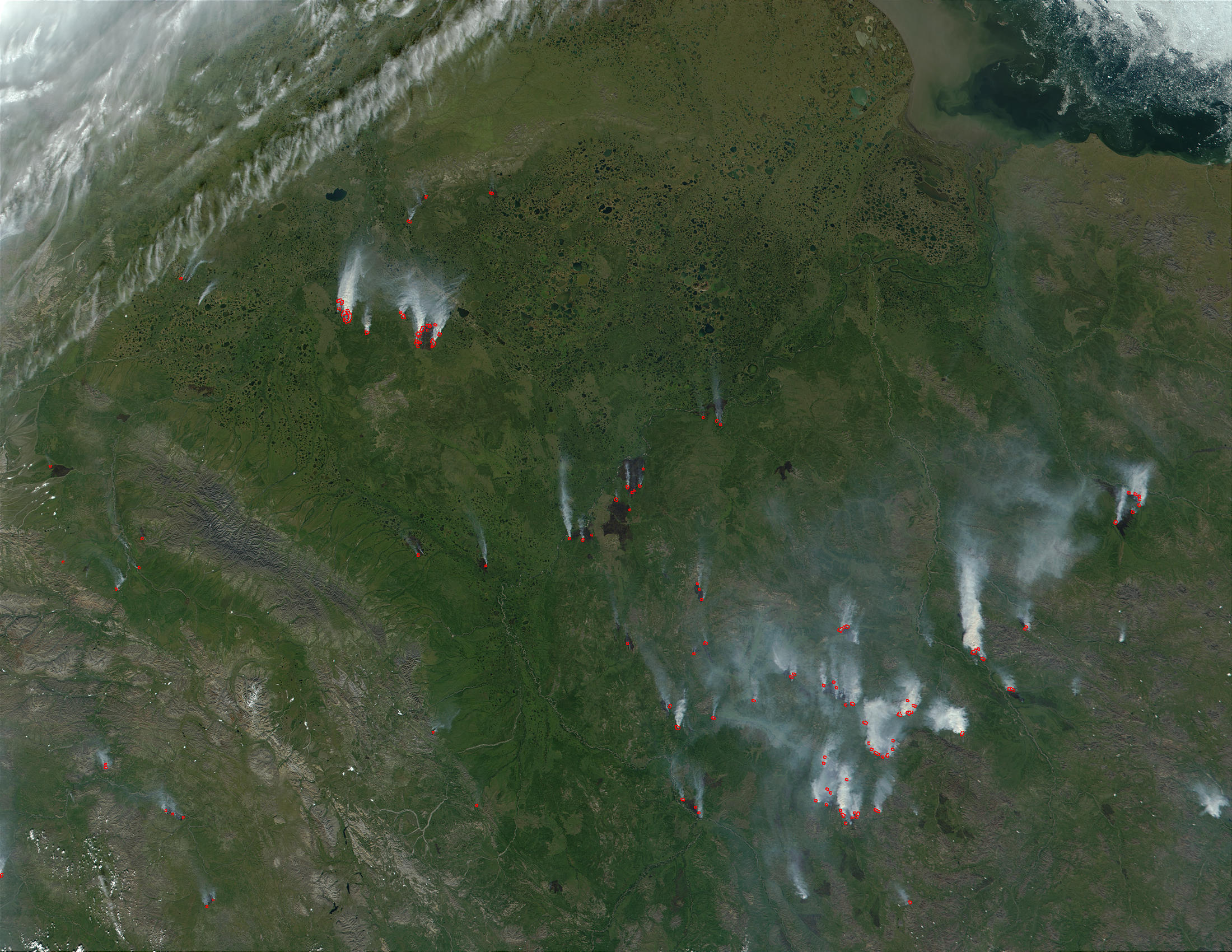 Fires in Eastern Siberia, Russia - related image preview