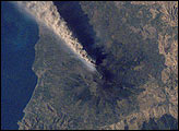 Ash Plume Streams from Mt. Etna, Sicily - selected image