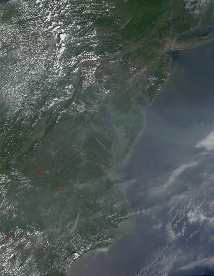 Abundant aerosols over Mid-Atlantic United States - related image preview