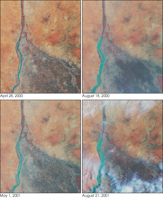 Nile River Fluctuations Near Khartoum, Sudan - related image preview