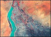 Nile River Fluctuations Near Khartoum, Sudan - selected image