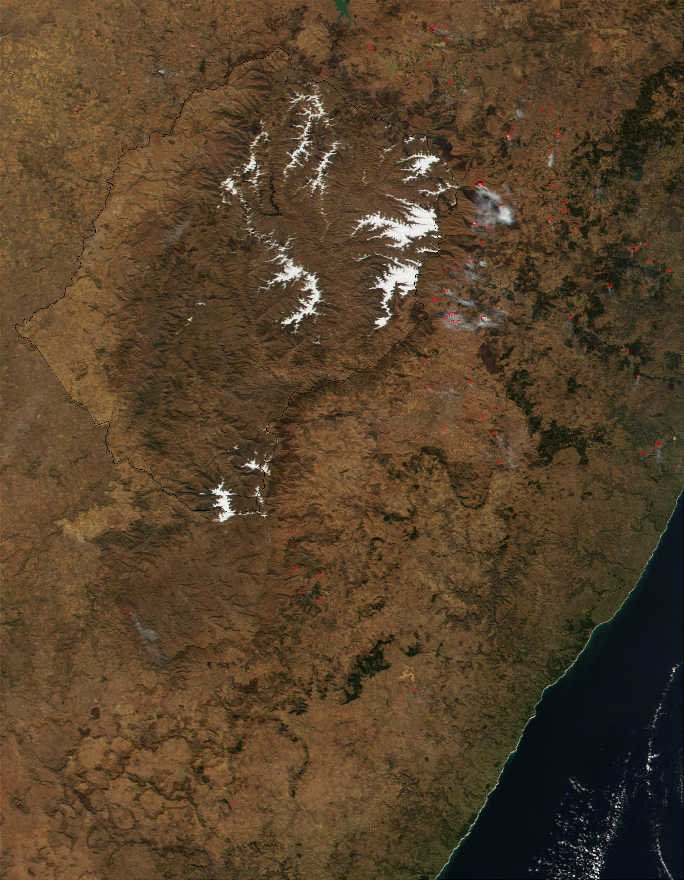 Snow in Lesotho and fires in South Africa - related image preview