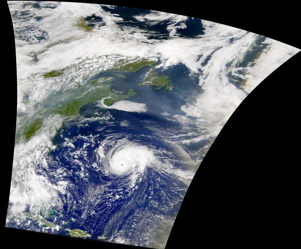 SeaWiFS: Hurricane Erin - related image preview