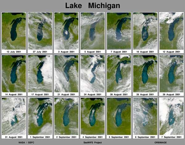 SeaWiFS: Lake Michigan Brightens Again - related image preview