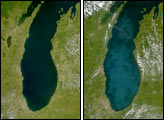 SeaWiFS: Lake Michigan Brightens Again - selected image
