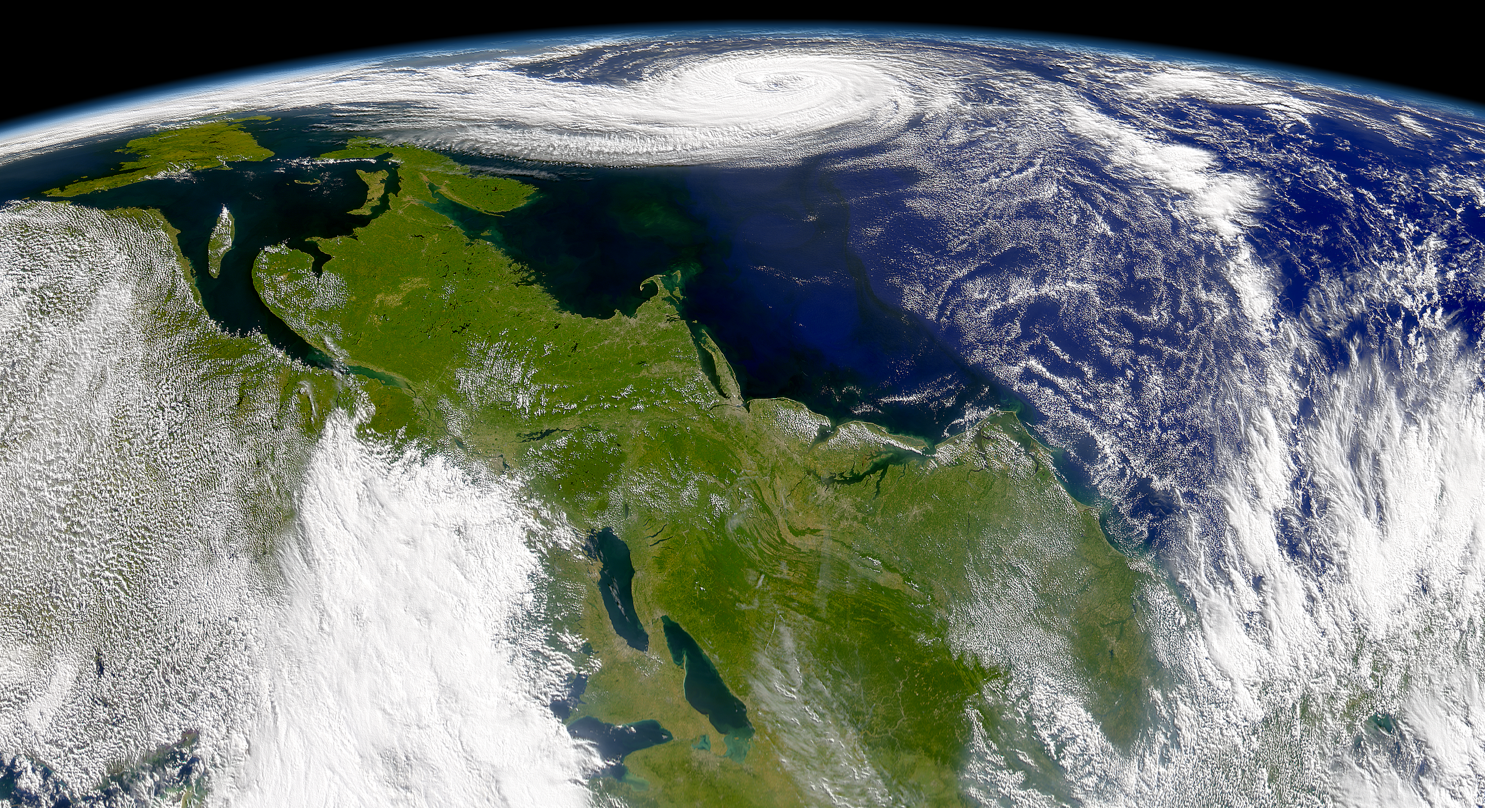 SeaWiFS: Eastern North America and Hurrican Erin - related image preview
