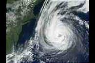 Hurricane Erin off the coast of Northeast United States