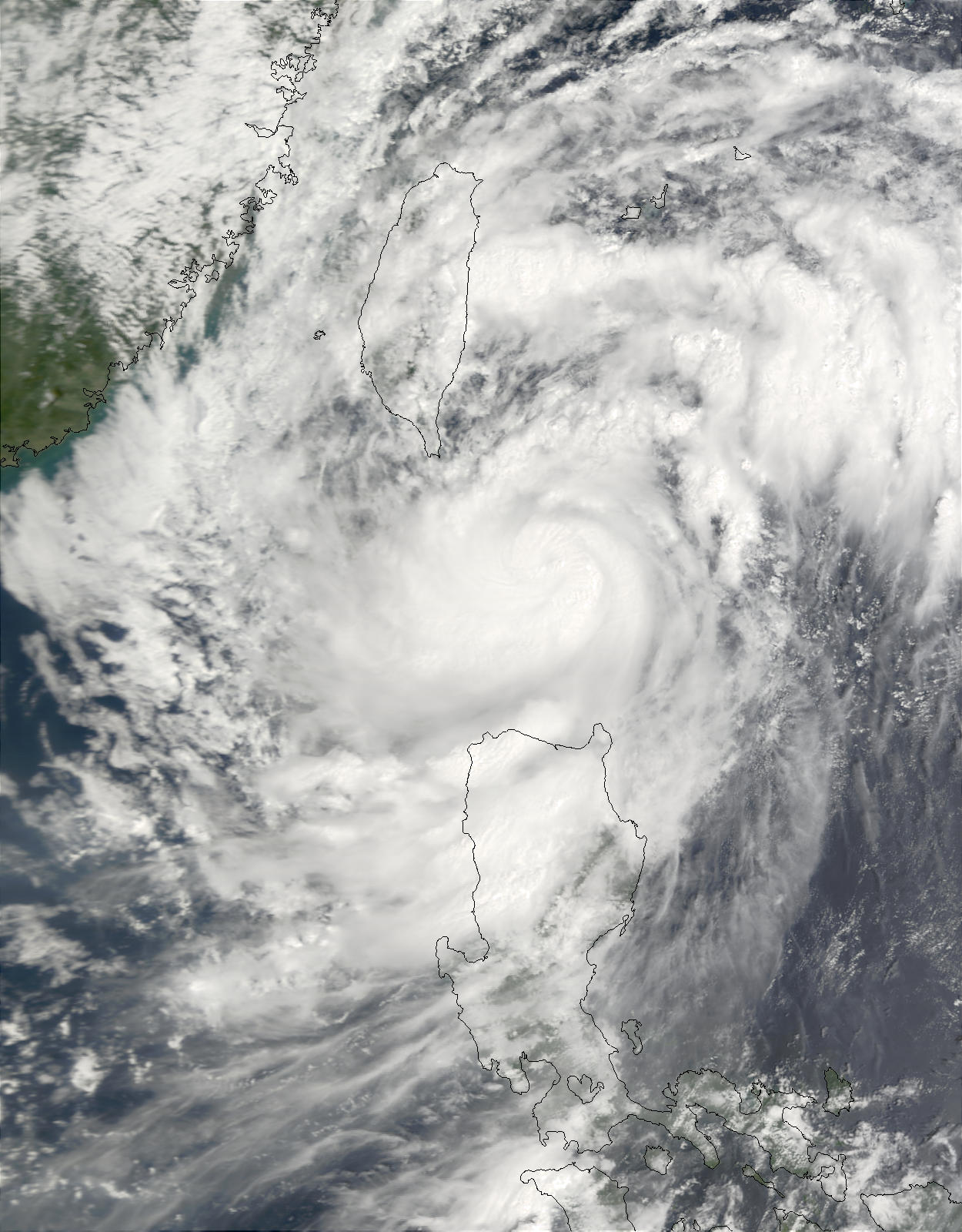 Typhoon Lekima (23W) southeast of Taiwan - related image preview