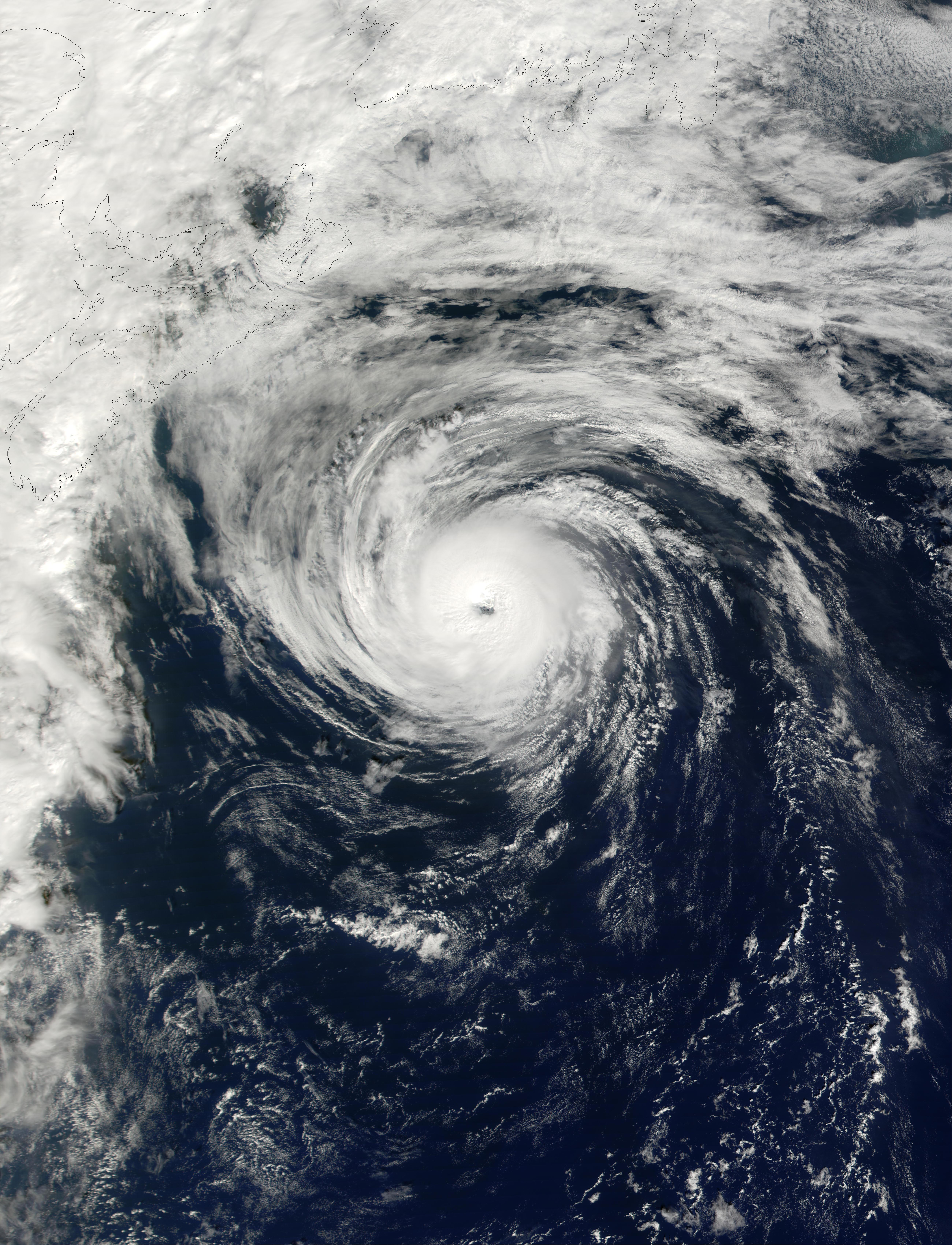 Hurricane Humberto southeast of Nova Scotia, Canada - related image preview