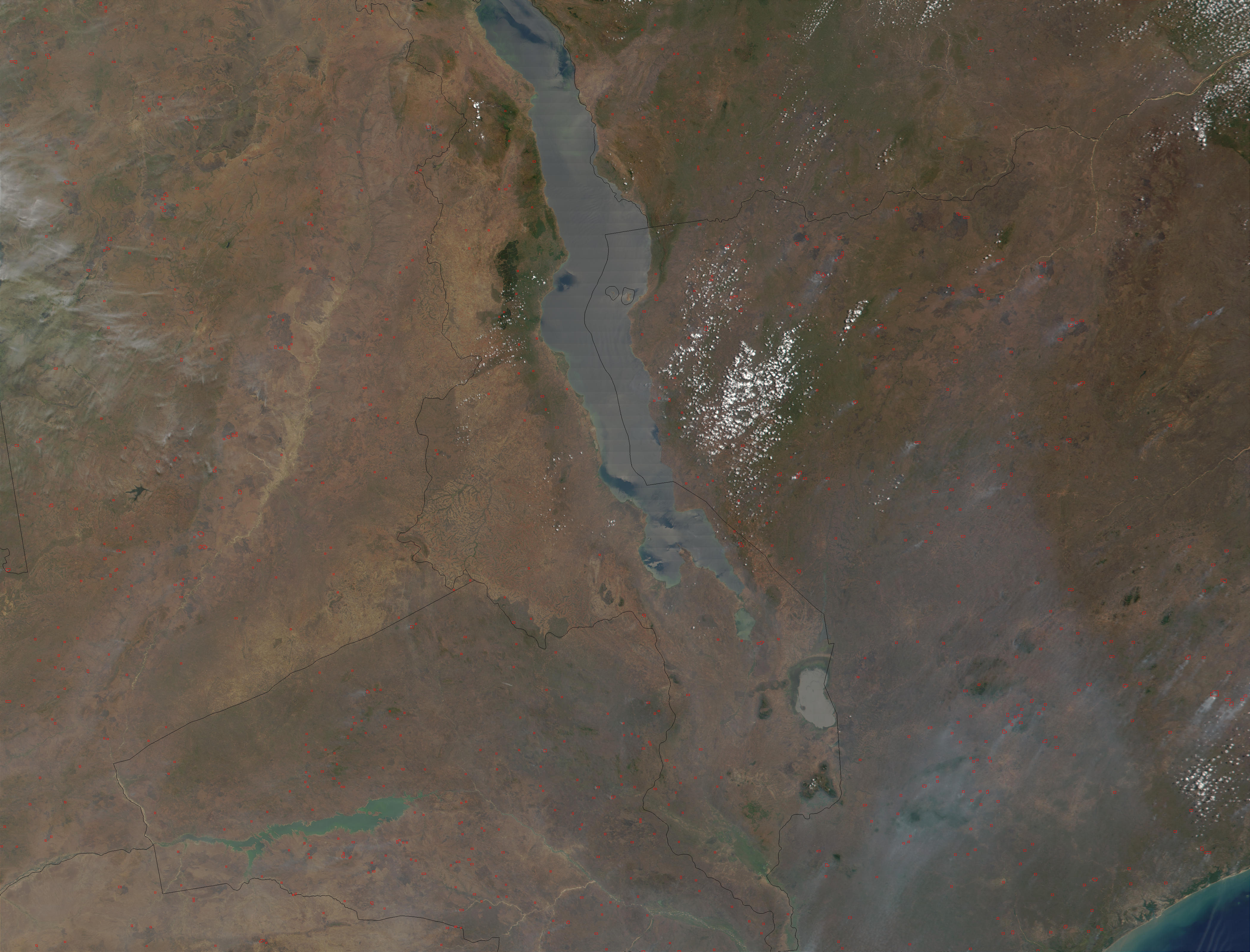 Fires around Malawi Lake, in Zambia, Malawi, Tanzania, and Mozambique - related image preview