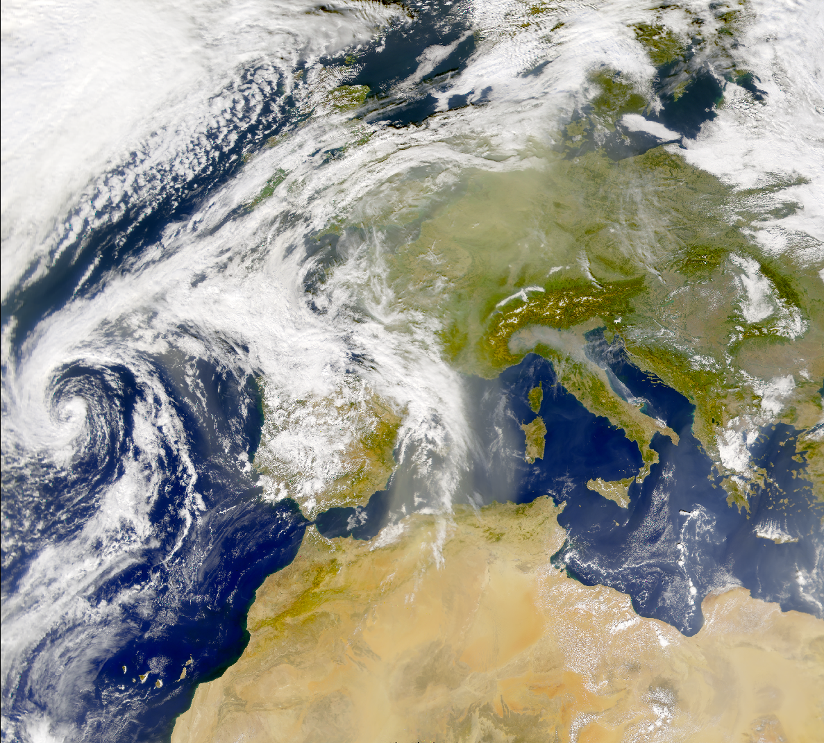 SeaWiFS: Dust over Europe - related image preview