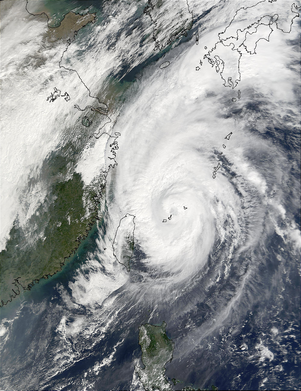 Typhoon Haiyan (25W) northeast of Taiwan - related image preview