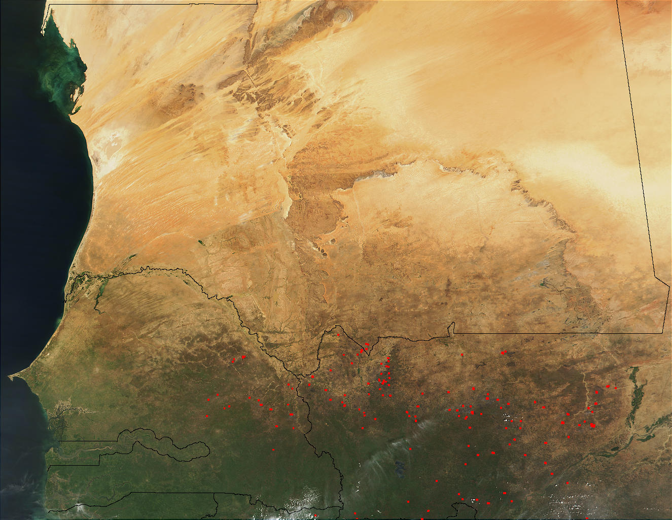 Fires in Mali and Senegal - related image preview