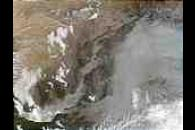 Thick aerosols in the Yellow River Valley, China
