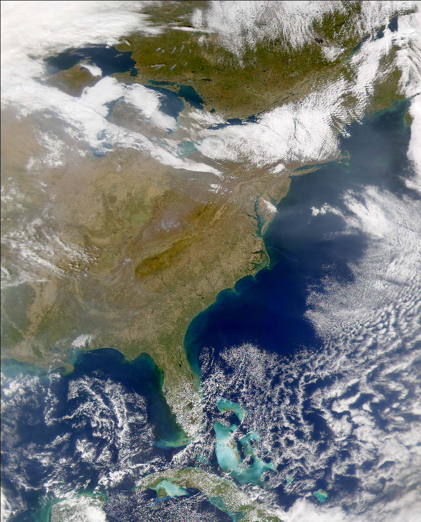 SeaWiFS: Eastern United States - related image preview