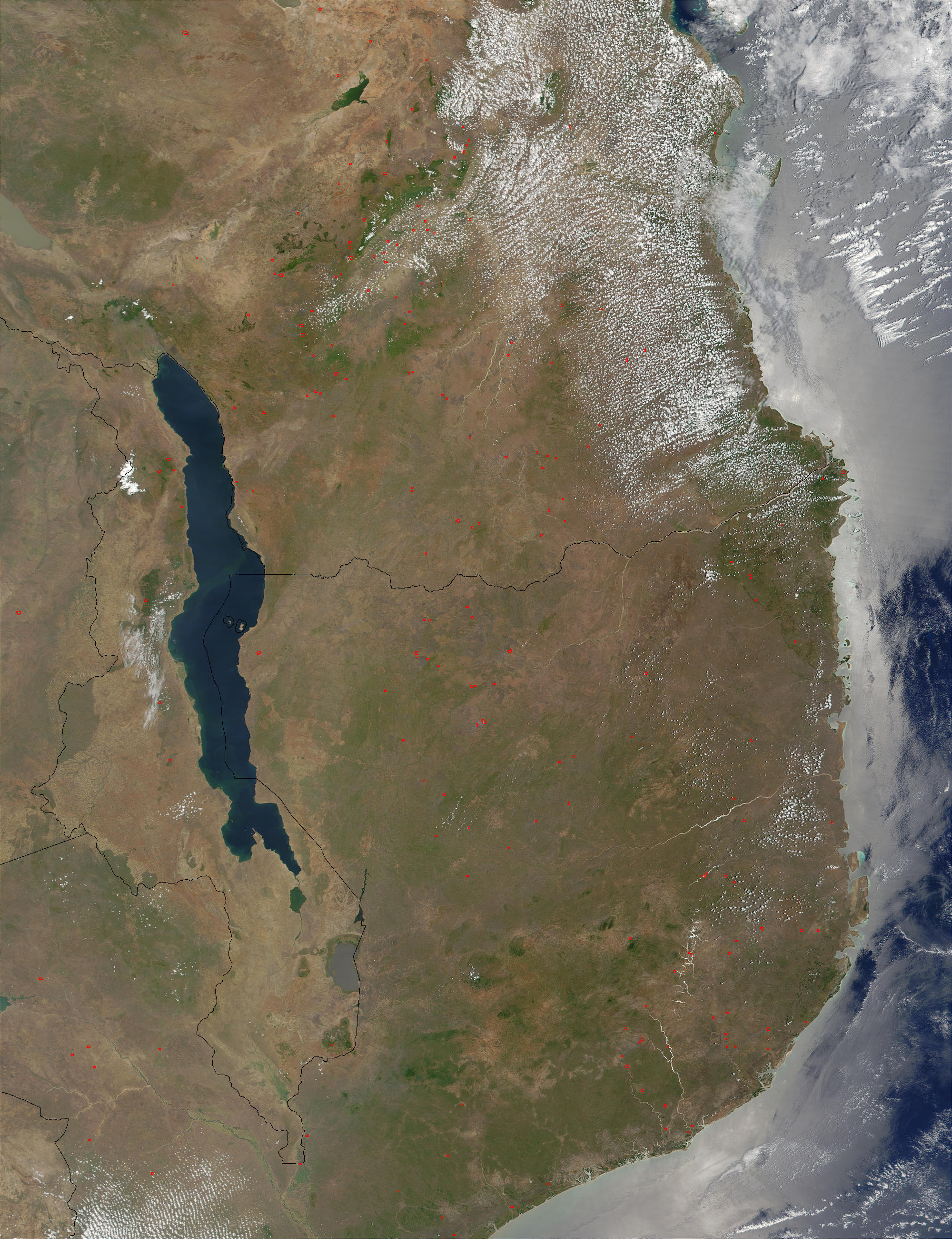 Fires in Tanzania and Mozambique - related image preview