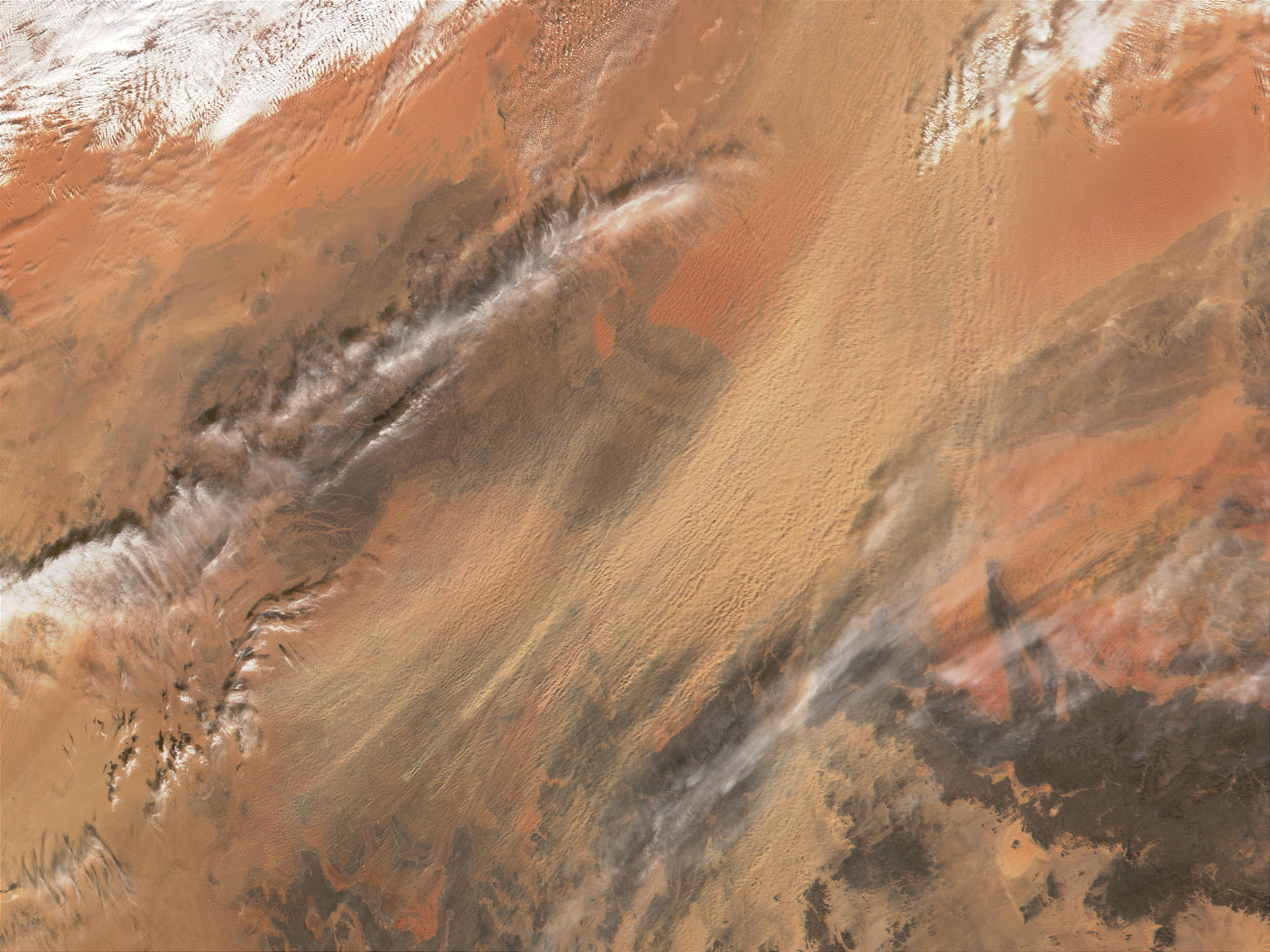 Dust storm blowing from Grand Erg Oriental, Algeria - related image preview