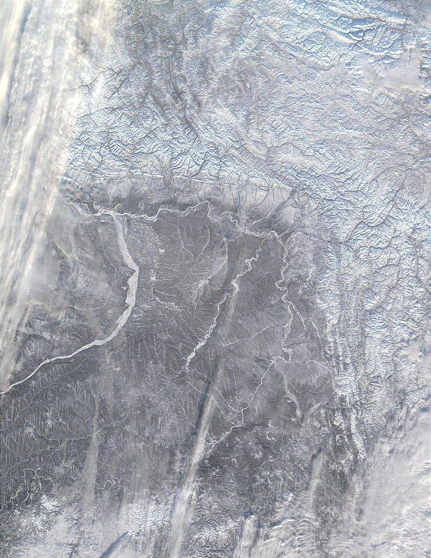 Verkhoyansk Range and Lena River near Yakutsk, Russia - related image preview
