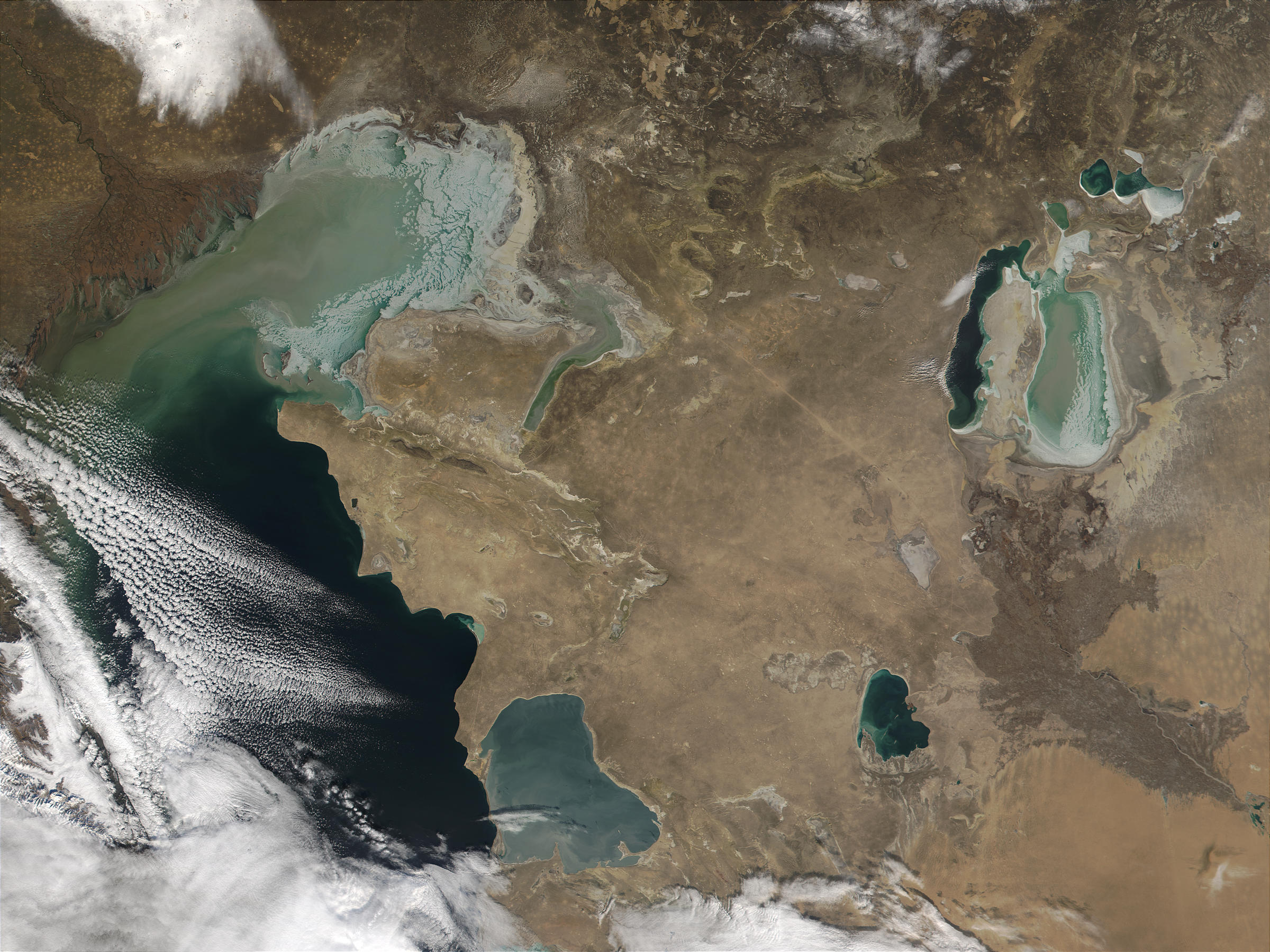 Ice in Caspian Sea and Aral Sea, Kazakhstan - related image preview