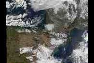 Snow in Spain and France