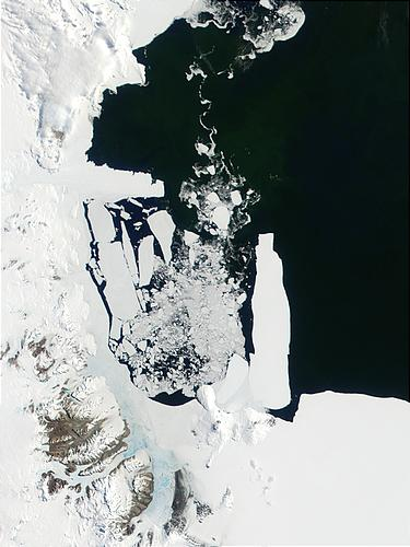 Sea ice breaking away in Ross Sea, Antarctica - related image preview