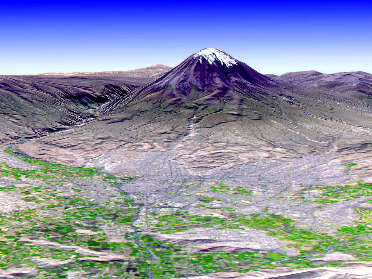 El Misti Volcano and the City of Arequipa, Peru - related image preview