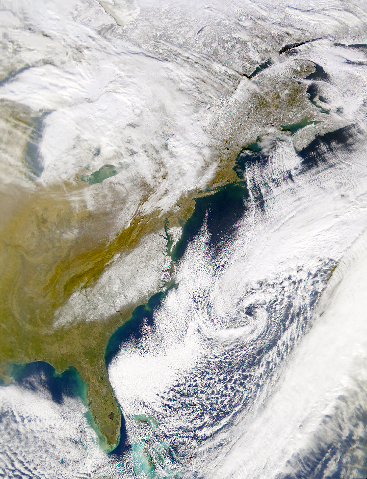 SeaWiFS: Snowfall in the mid-Atlantic States - related image preview