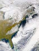 SeaWiFS: Snowfall in the mid-Atlantic States - selected image