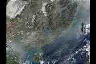 Fires and pollution in southern China and Vietnam