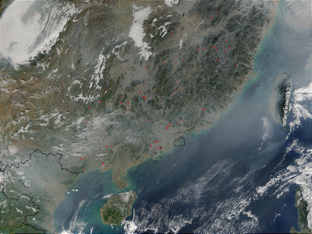 Fires and pollution in southern China and Vietnam - related image preview