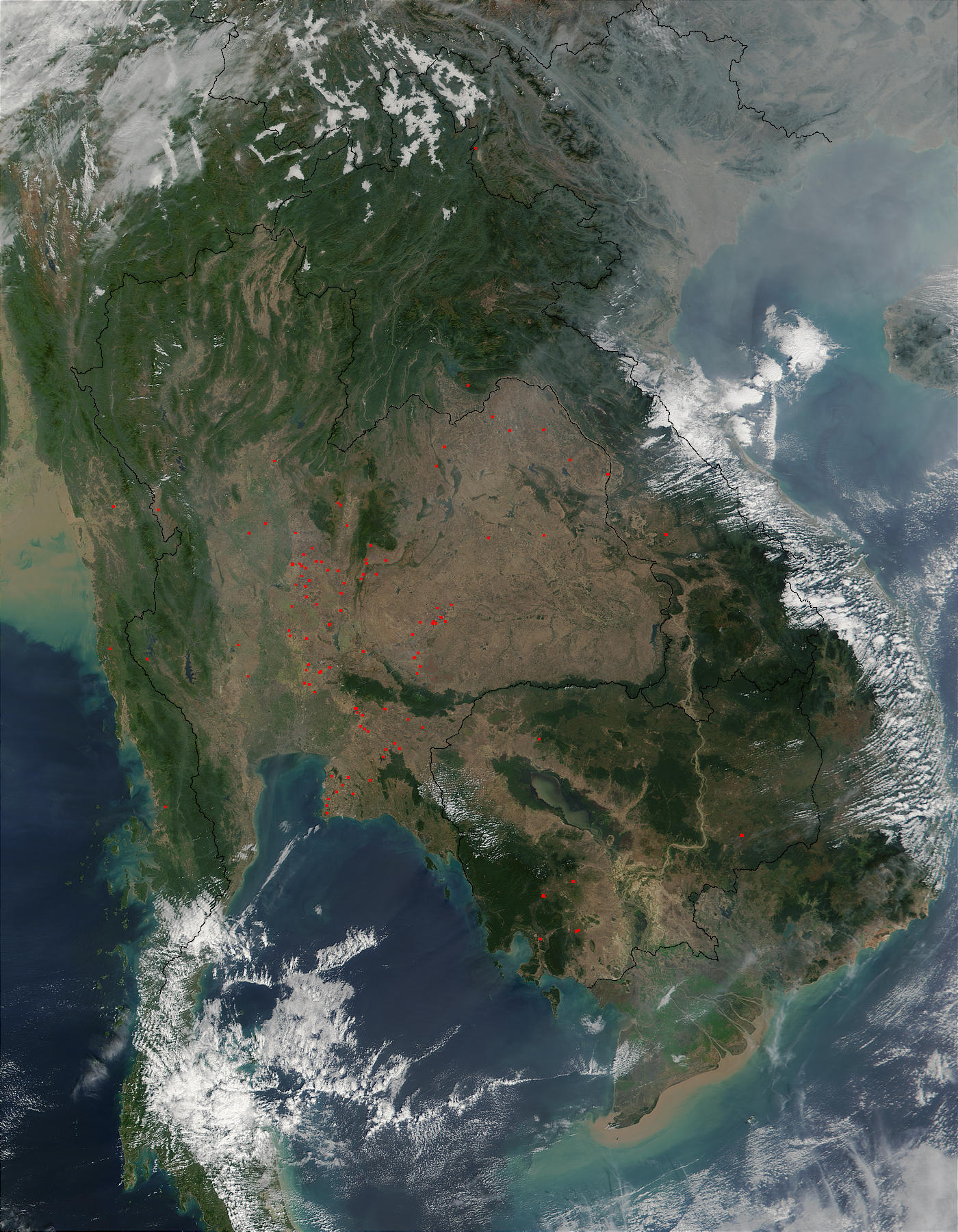 Fires in Thailand and Cambodia - related image preview