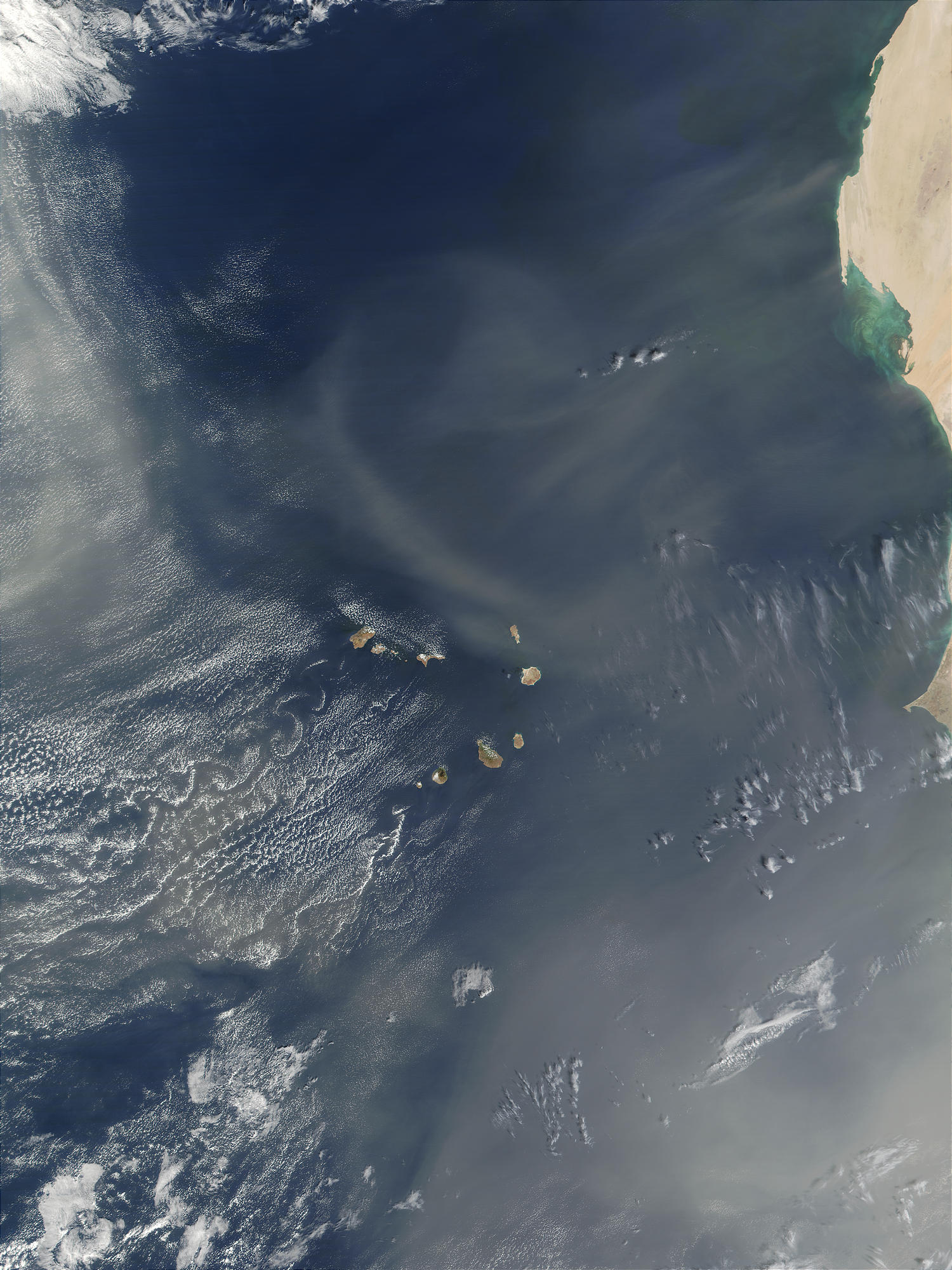 Saharan dust blown over Cape Verde Islands - related image preview