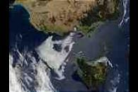 Tasmania and southeast coast of Australia