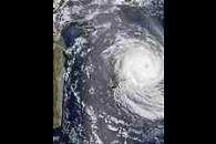 Tropical Cyclone Dina (10S) northeast of Mauritius and Reunion Islands, Indian Ocean