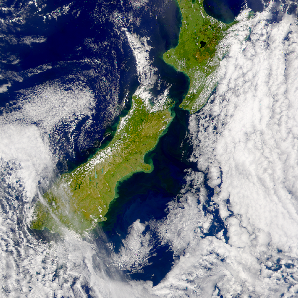 SeaWiFS: Runoff from Flooding in New Zealand - related image preview