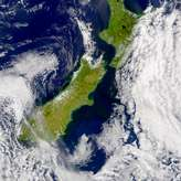 SeaWiFS: Runoff from Flooding in New Zealand - selected image