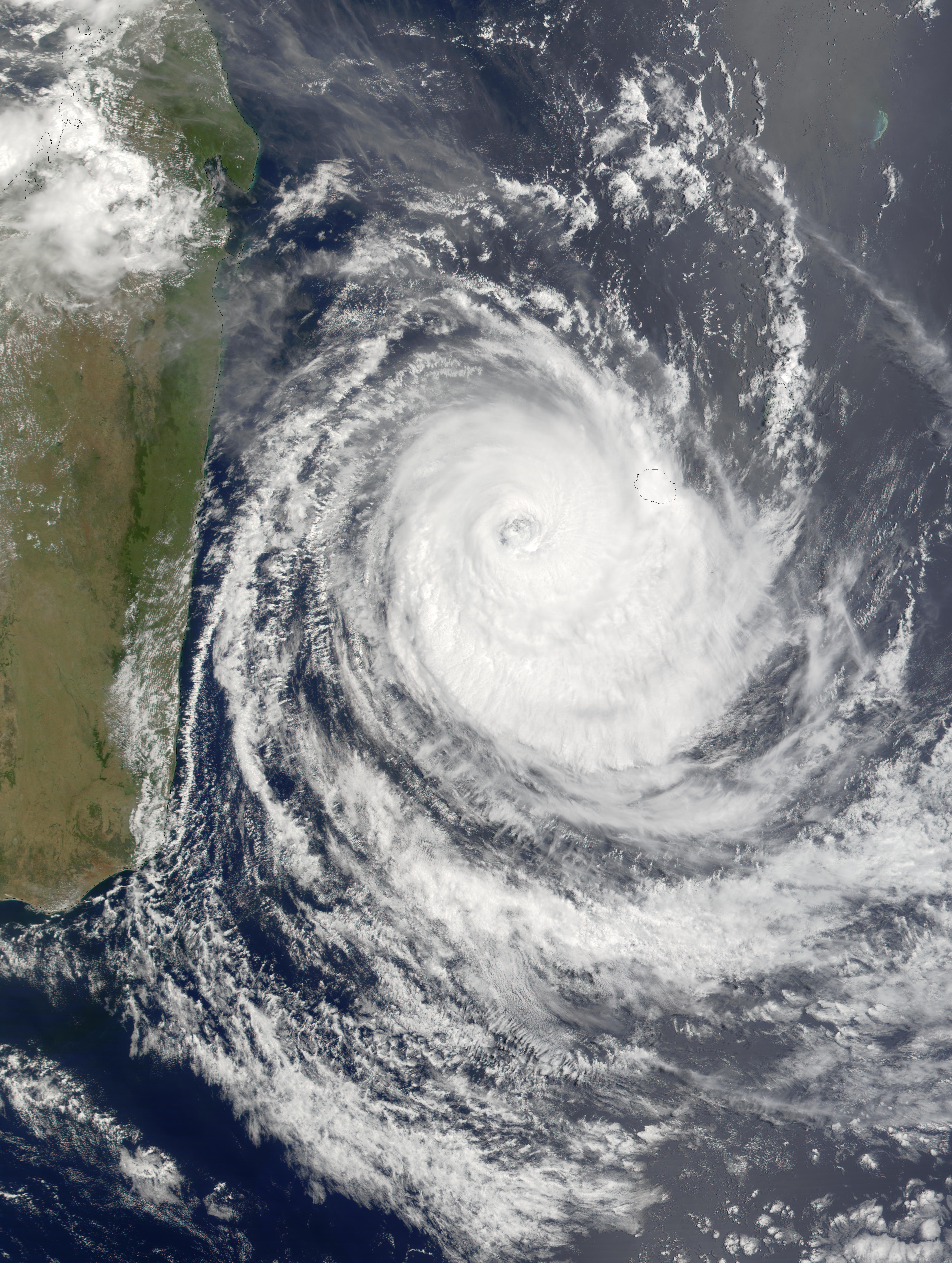 Tropical Cyclone Dina (10S) east of Madagascar - related image preview