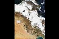Snow in Iran and Turkey