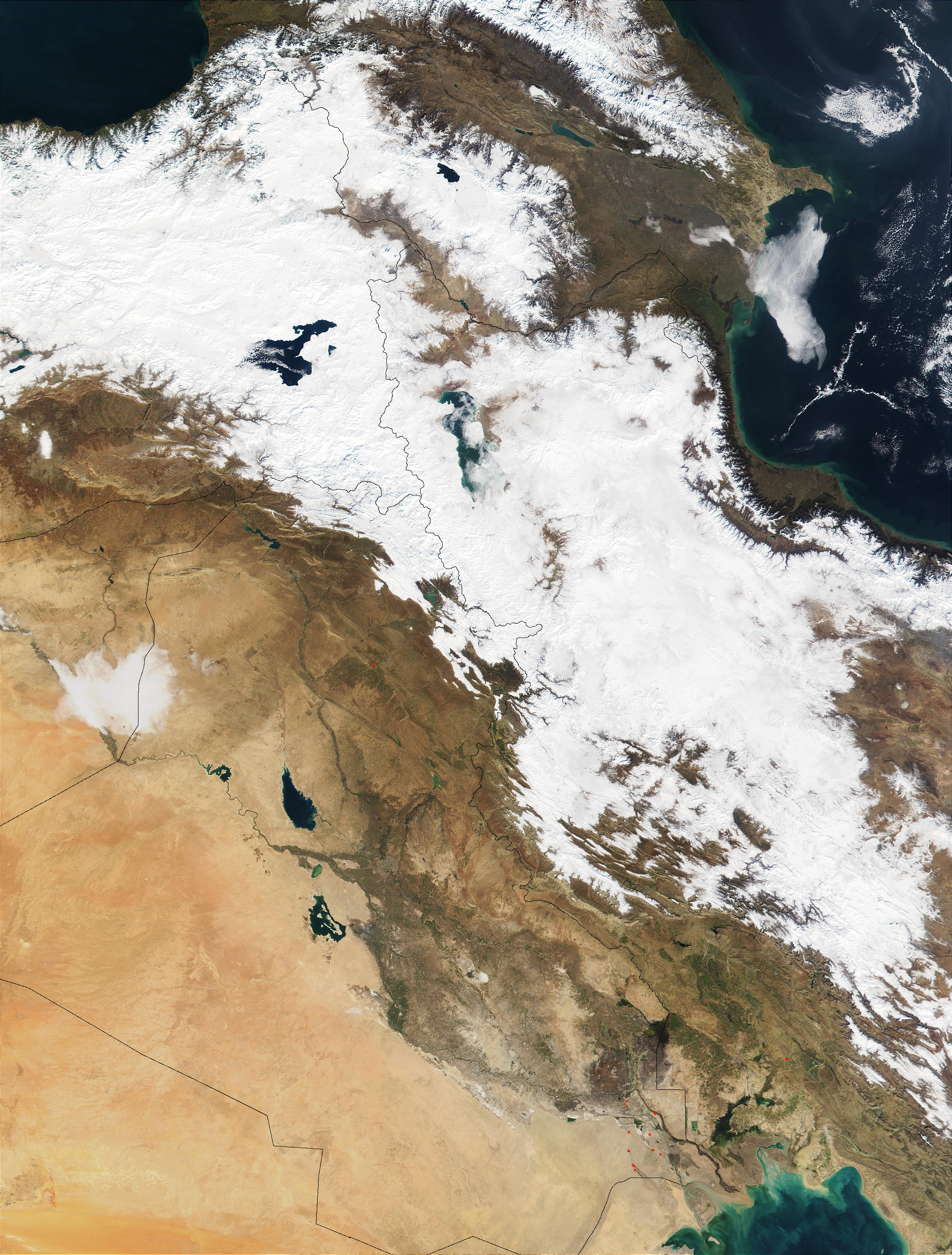 Snow in Iran and Turkey - related image preview