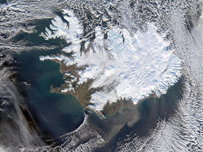Nasa Visible Earth Dust Storm Along The Coast Of Iceland