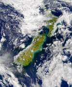 SeaWiFS: Turbidity east of New Zealand - selected image