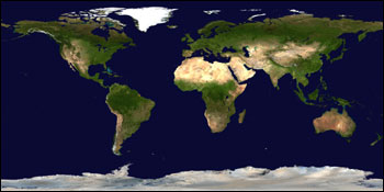 Blue Marble: Land Surface, Shallow Water, and Shaded Topography - related image preview