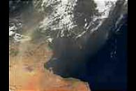 Saharan dust over the Mediterranean Sea
