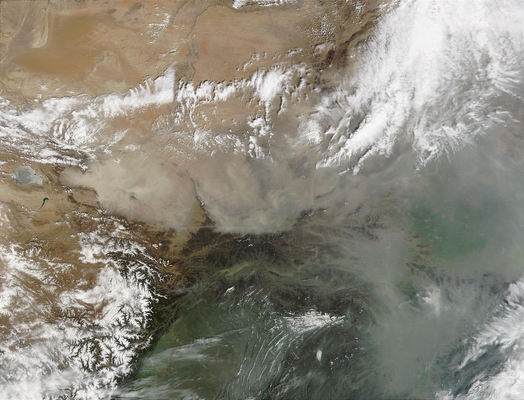 Dust and pollution in Northern China - related image preview
