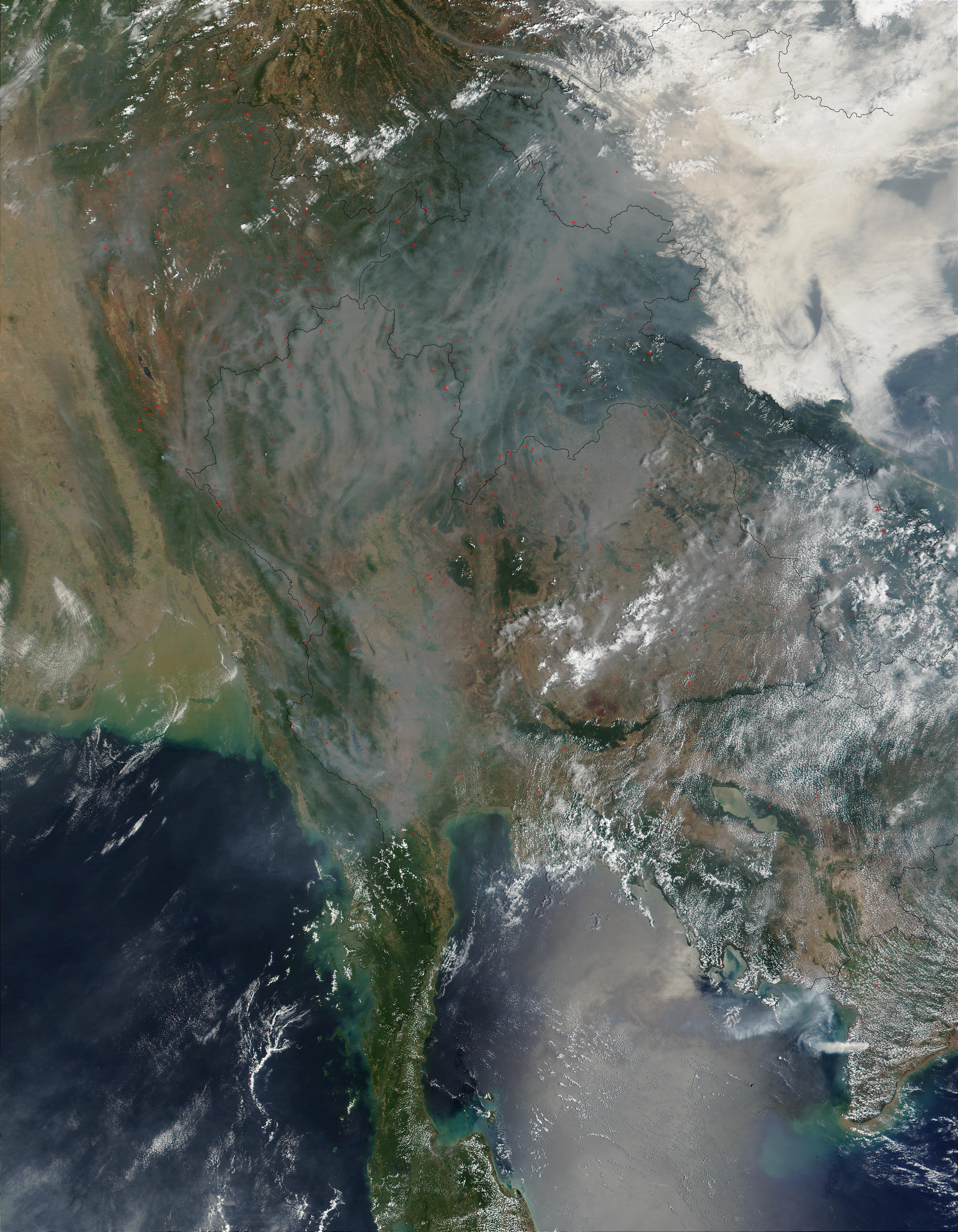 Fires and smoke in Thailand and Laos - related image preview