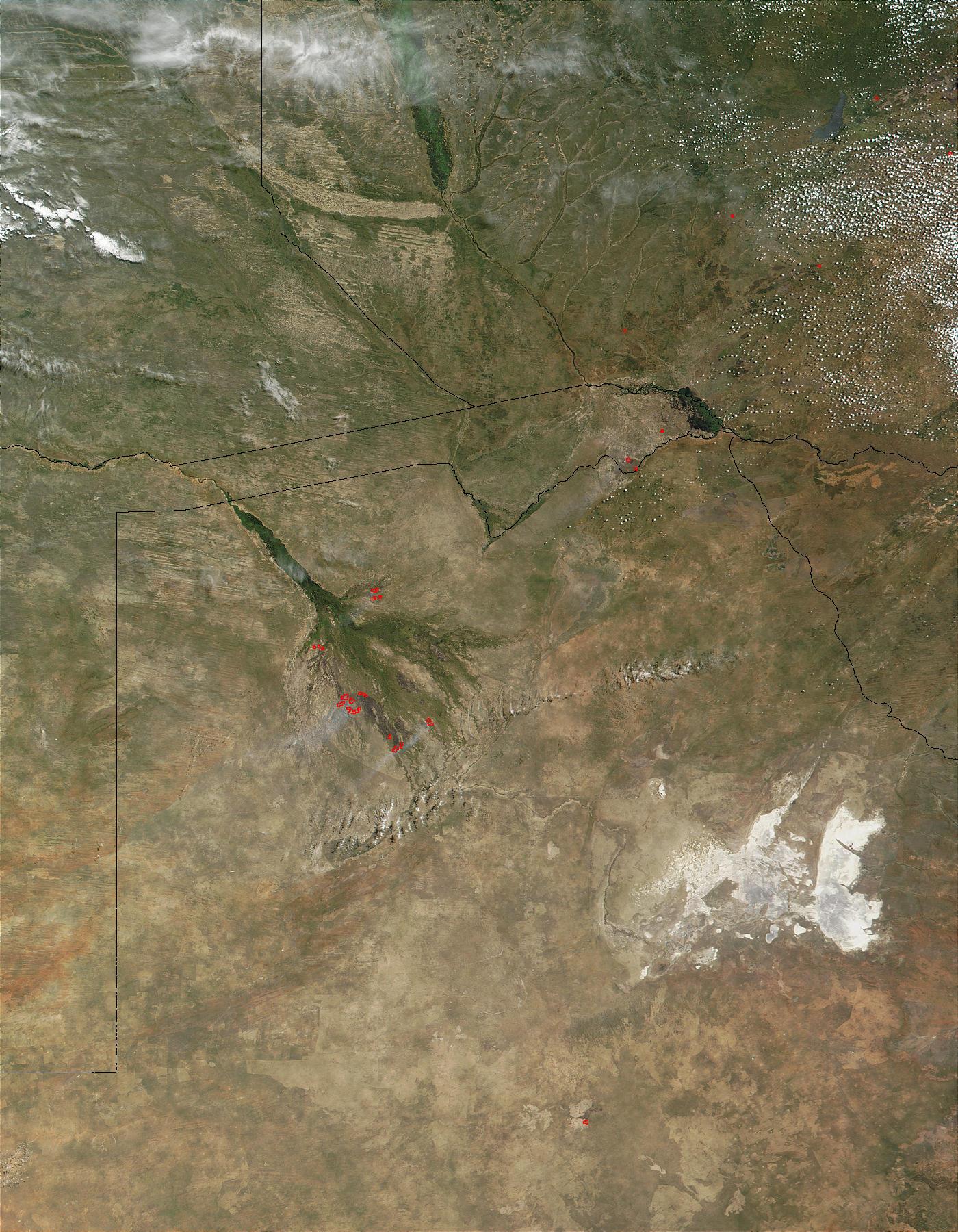 Fires in the Okavango Delta, Botswana - related image preview