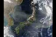 Dust over Japan